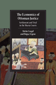 Economics of Ottoman Justice Book Cover