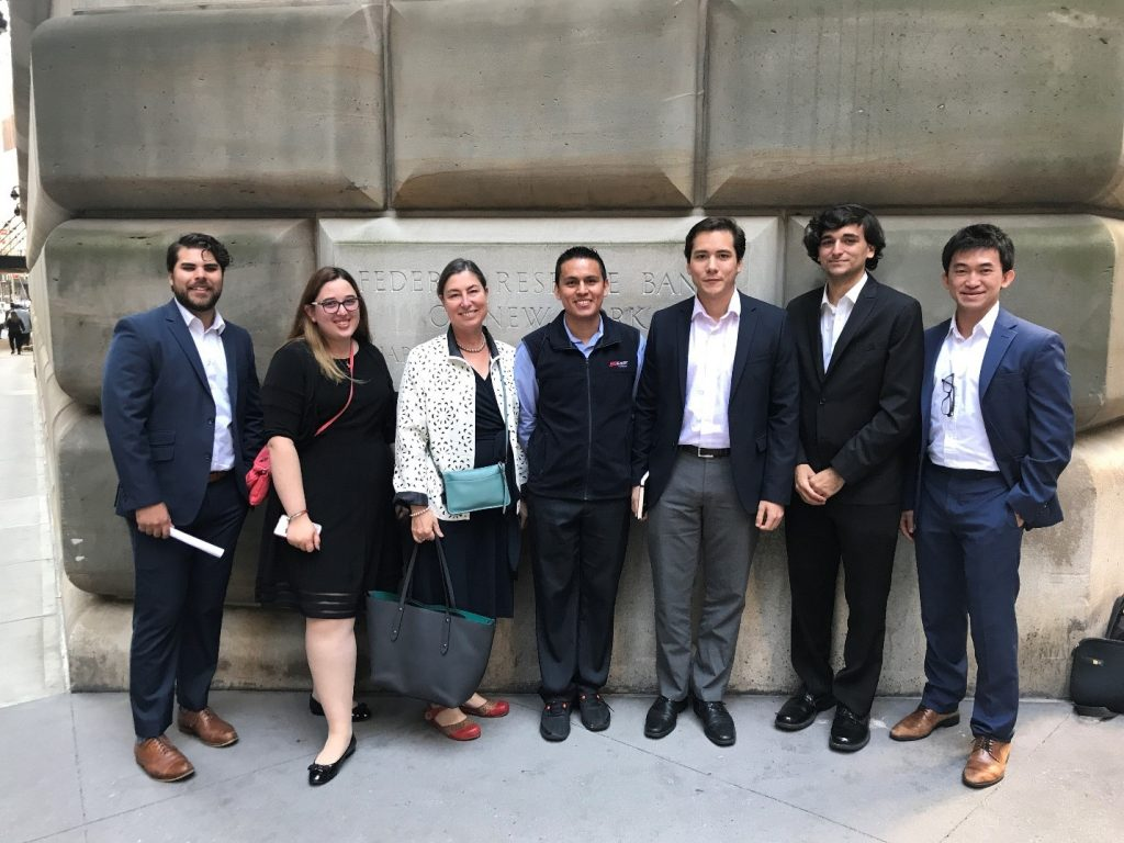 Membes of the 2019 NY Fed Challenge Team